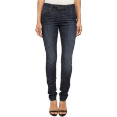 Joe's Jeans Fahrenheit Mid Rise Skinny in Retta Women's Jeans, Blue ($90) ❤ liked on Polyvore featuring jeans, blue, high rise skinny jeans, mid-rise jeans, faded skinny jeans, skinny fit jeans and blue jeans