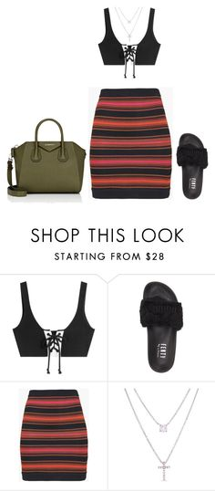 """Baddie"" by hy1as on Polyvore featuring Mode, Puma, Balmain, Belk Silverworks und Givenchy"