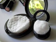 Travel tip! Add a cotton ball or cotton pad to your makeup to keep them from breaking when