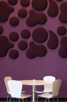 Wobedo design acoustic woolen panels, Halmstad