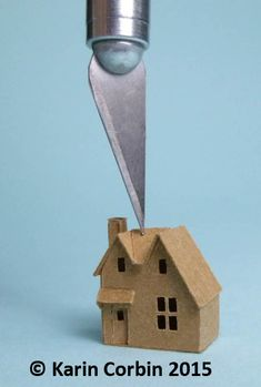 teeny, tiny house - Karin Corbin Miniatures