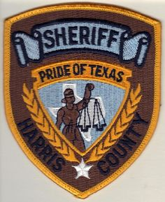 Harris County Sheriff Department United we GOFORTH......  Sheriff's Officer Darren Goforth.