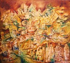 Painting,Cautivos del Pasado. Autor Monica Renedo,Art🌈