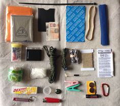 UK Backpacking Possibles Kit with a link to a backpacking gear list spread sheet.