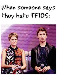 Hahaha. Shailene and Ansel. TFIOS