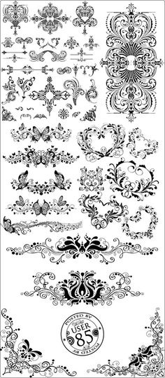 Vector ornaments are one of those generic design resources you want to have in your personal collection because they can be used in a vast number of projects. They're high quality and detailed and are fit to embellish and add a touch of elegance to any design.