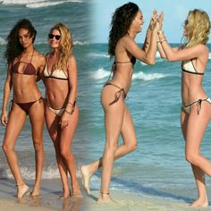 #JoanSmallsand #DoutzenKroeskicked off the new year with a beach day in Miami posing for photos together! • • • • • • • • • • • • • • • • • • • • • • • • • • • • • • #JoanSmalls e #DoutzenKroes iníciaram o novo ano com um dia de praia em Miami posando para fotos juntas!