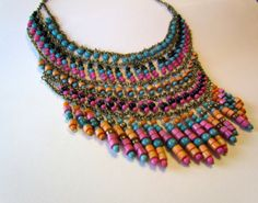Return to me now  love spelled statement necklace by dovemacob, $120.00
