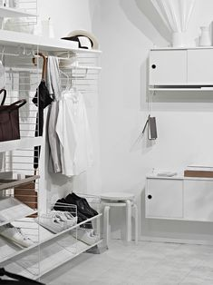 Only Deco Love: SFF Stockholm 2017 : Part 1 Arch Interior, Simple Interior, Minimalist Interior, Modern Interior, String Regal, String Shelf, String System, Shoe Room, Modular Walls