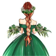 #StPatricksDay @hnicholsillustration #FashionIllustrations |Be Inspirational ❥|Mz. Manerz: Being well dressed is a beautiful form of confidence, happiness & politeness