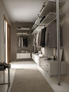MIRIA Armario vestidor by GAROFOLI Closet Layout, Built In Wardrobe, Bedroom Wardrobe, Wardrobe Design, Closet Doors, Closet Space, Walking Closet, Cozy Bedroom, Closet Organization