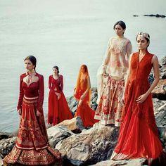 Indian wedding dresses.  Indian bridal lehenga. 2014