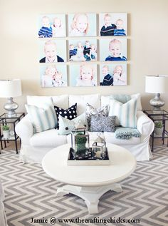 living room makeover from The Crafting Chicks!