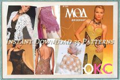 Crochet Patterns. E-book. Instant Download PDF.  Dress,Skirt, Top, Jacket, Irish Lace. Summer, Autumn Issue Journal Mod #503 on Etsy, $3.00