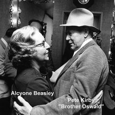 Alycone & Pete Kirby (Brother Oswald).  [Courtesy of Dr. Humphrey Bate & The Possum Hunters]