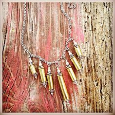 22 Ammo Dangle Necklace by AltogetherLvly on Etsy