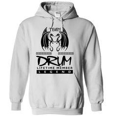 TO0804 Team DRUM Lifetime Member Legend T-Shirts, Hoodies. CHECK PRICE ==► https://www.sunfrog.com/Names/TO0804-Team-DRUM-Lifetime-Member-Legend-ioglwnojgf-White-40661354-Hoodie.html?id=41382