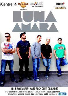 Bilete LUNA AMARA in premiera la Hard Rock Cafe - iaBilet.ro