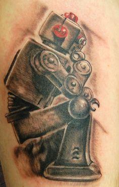 thinker robot tattoo