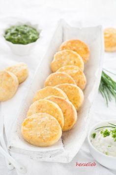 Kartoffelscones mit Käse, lecker zu Dips!