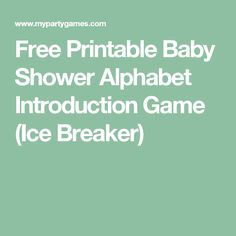 24 Baby Shower Party Ice Breaker Question Game BABY NECESSITIES A   Z For  USD3.59 #Home #Garden #Greeting #NECESSITIES Like The 24 Baby Shower Partu2026
