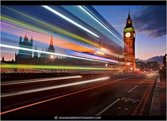 Blue Hour Light Trail Westminster