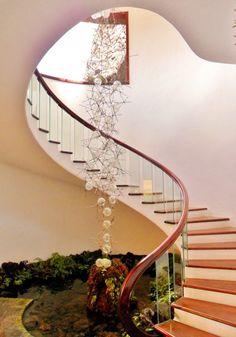 Spiral staircase designed by Ceser Manique-- Jardin De Cactus, Lanzarote, Canary Islands