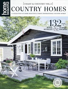 Home Beautiful's Coast & Country special double edition is out now! Beautiful Cover, Coastal Homes, White Walls, Hearth, Country Style, Decks, Countryside, Seaside, Cottage