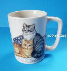 Otagiri Cats Mug Kittens Kitty Feline Pets Animals Fraser Japan Coffee Cup #Otagiri #CatsKittens