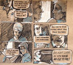 Maggie Stiefvater Art. The Raven Boys Comic Panel 1. Spoilers!