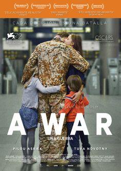 Cartel español de A war - una guerra (Krigen, 2015, Tobias Lindholm, Dinamarca)