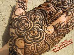 "YouTube unique floral flowers mehndi henna design art creation tutorial for Eid festival Diwali days. Search ""Nidhi's MehndiART"" YouTube channel for all kind of mehndi henna design tutorial. #fashion #jewellery #trend #bridal #bride #wedding #marriage #festival #tradition #beautiful #girl #london #paris #canada #us #india #surat #ahmedabad #uk #arabic #floral #gulf #dubai #henna #mehndi #mehandi #art #drawing #tattoo #design"