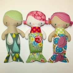 Mermaid dolls...I'm so making these for when you have kids :)