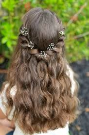 Image result for Flower girl hair