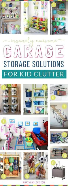 How to organize your garage to eliminate toy clutter | DIY ideas, products, inspiration and tips to create more storage for your kids stuff! Plus hacks and tricks to organize your entire life for a fun summer with your family.