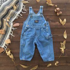 5871b89e1 Vintage OshKosh Baby B'Gosh Overalls // Dungarees // 12 months Oshkosh Baby