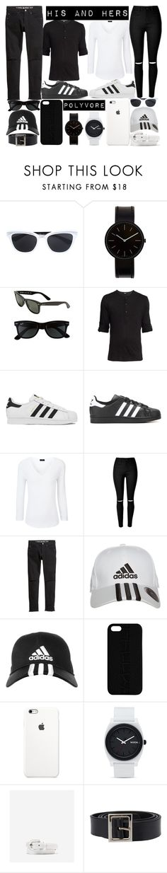 """""""his and hers outfit of the day..."""" by j-n-a ❤ liked on Polyvore featuring Christian Dior, Uniform Wares, Ray-Ban, adidas, Joseph, H&M, Maison Takuya, Nixon, Cole Haan and Dolce&Gabbana"""