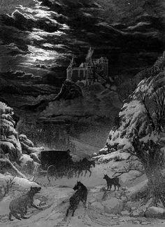 Undead, Undead: John Coulthart's beautiful illustrations for Bram Stoker's 'Dracula' Gothic Horror, Gothic Art, Horror Art, Comte Dracula, Bram Stoker's Dracula, Dark Fantasy, Fantasy Art, Dracula Tattoo, Castle Tattoo