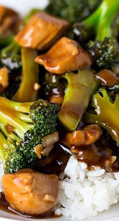 Easy Teriyaki Chicken and Broccoli - Quick Chicken and Broccoli Recipe I Love Food, Good Food, Yummy Food, Tasty, Asian Recipes, Healthy Recipes, Easy Chinese Recipes, Mets, Quick Meals