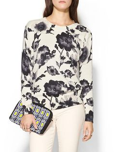 Wide Neck Floral Top Product Image