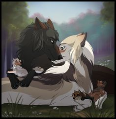 Bliss by Ramala Cute Wolf Drawings, Animal Drawings, Animal Sketches, Anime Wolf Drawing, Furry Drawing, Mythical Creatures Art, Cute Fantasy Creatures, Furry Wolf, Furry Art