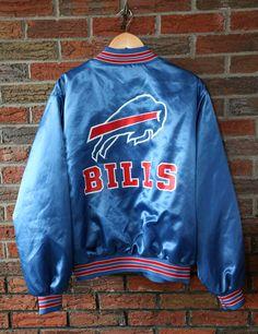 4f05cf6d4 Vintage 90 s Buffalo Bills Locker Line Satin Jacket SZ XL Vintage  Sportswear