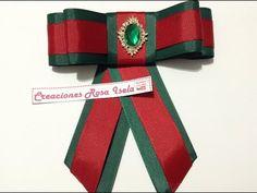 Como hacer Moños: Corbatín o Bow Brooch Ribbon Art, Ribbon Bows, How To Make Shoes, How To Make Ribbon, Women Bow Tie, Diy Tops, Diy Hair Bows, Embroidery Fabric, Brooches Handmade