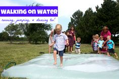 """Teaching the Bible: """"Jesus Walked on Water"""". After our series on Jesus we will have a Miracle Day. Preschool Bible Lessons, Bible Object Lessons, Bible Crafts For Kids, Bible Lessons For Kids, Vbs Crafts, Church Crafts, Preschool Ideas, Peter Walks On Water, Jesus Walk On Water"""