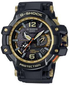 G-Shock Men's Gravitymaster Black Bracelet Watch 66x56mm GPW1000GB-1A