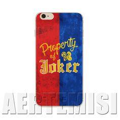 Casos de telefone do Esquadrão Suicida Margot Robbie Propriedade do Joker Harley Quinn jacket case para iphone 4 4s 5 5s 5c 6 6 s plus SE