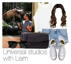 """Universal studios with Liam"" by style-with-one-direction ❤ liked on Polyvore featuring One Teaspoon, Converse, Zara, Ray-Ban, OneDirection, LiamPayne, 1d and liam payne one direction 1d"