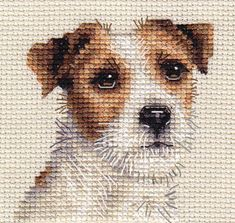 JACK RUSSELL TERRIER dog, puppy ~ Full counted cross stitch kit | eBay