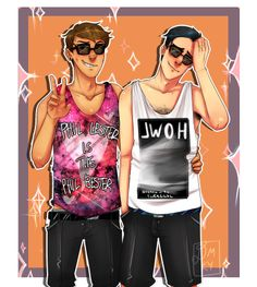 SCREAMING BC PHIL IN A TANK TOP AND DANS SHIRT I JUST dostyourmotherknow.tumblr.con