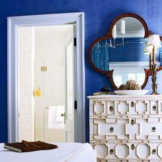 blue/ mirror/ and THAT dresser